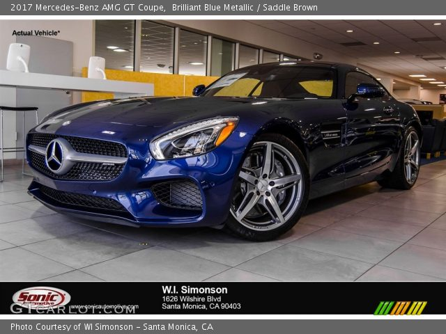 2017 Mercedes-Benz AMG GT Coupe in Brilliant Blue Metallic