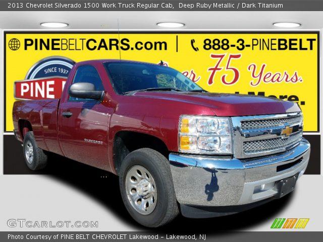 2013 Chevrolet Silverado 1500 Work Truck Regular Cab in Deep Ruby Metallic