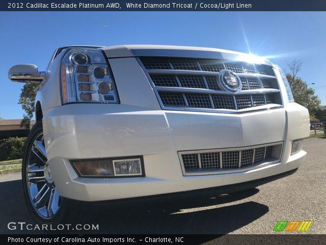 2012 Cadillac Escalade Platinum AWD in White Diamond Tricoat