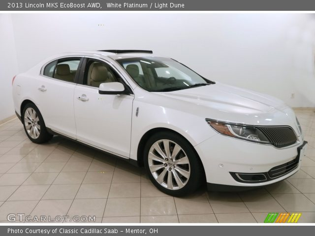2013 Lincoln MKS EcoBoost AWD in White Platinum