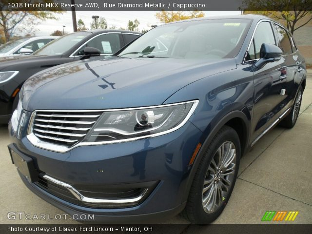 2018 Lincoln MKX Reserve AWD in Blue Diamond Metallic