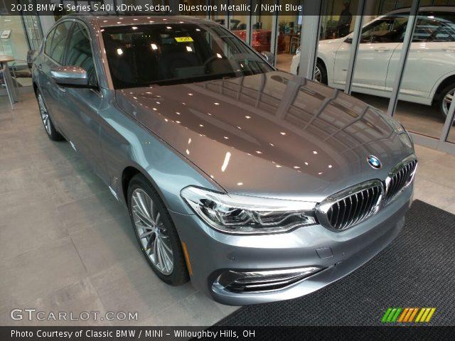 2018 BMW 5 Series 540i XDrive Sedan In Bluestone Metallic