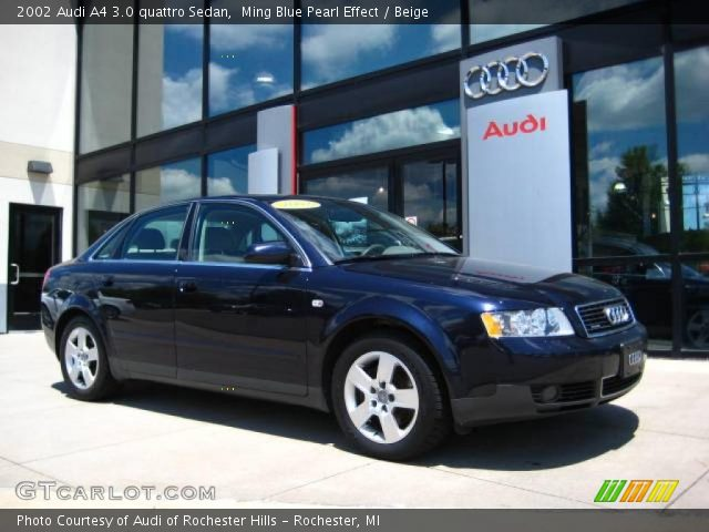ming blue pearl effect 2002 audi a4 3 0 quattro sedan. Black Bedroom Furniture Sets. Home Design Ideas
