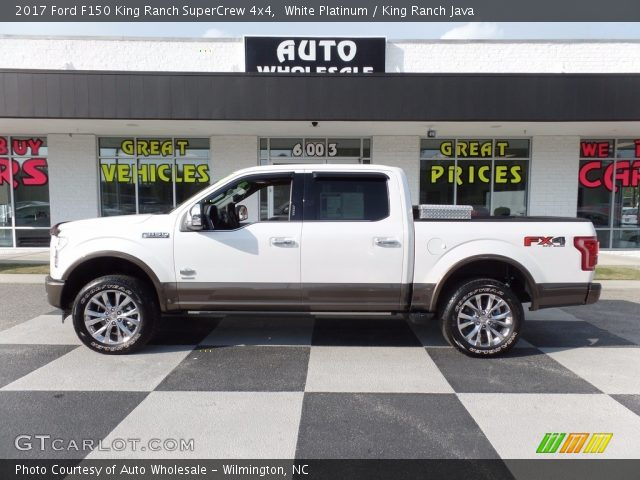 2017 Ford F150 King Ranch SuperCrew 4x4 in White Platinum