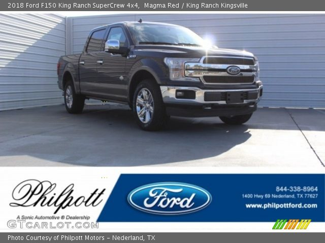 2018 Ford F150 King Ranch SuperCrew 4x4 in Magma Red