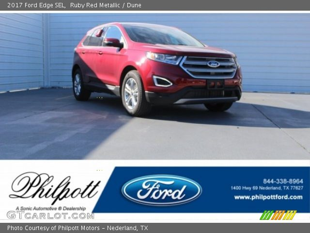 2017 Ford Edge SEL in Ruby Red Metallic