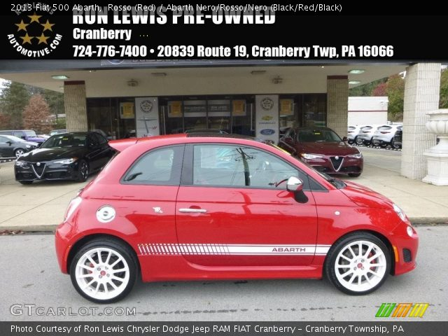 2013 Fiat 500 Abarth in Rosso (Red)