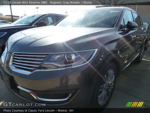 2018 Lincoln MKX Reserve AWD in Magnetic Gray Metallic