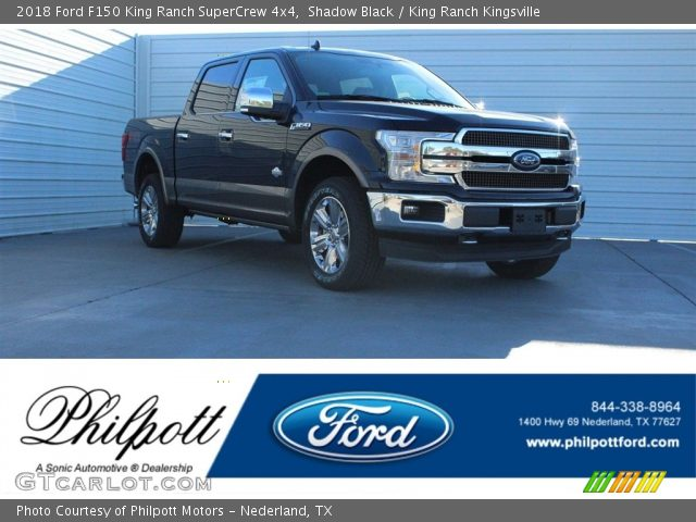 2018 Ford F150 King Ranch SuperCrew 4x4 in Shadow Black