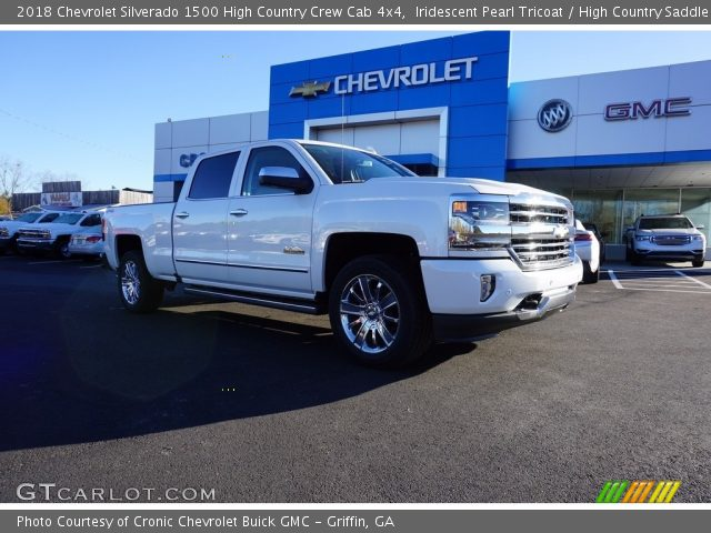 2018 Chevrolet Silverado 1500 High Country Crew Cab 4x4 in Iridescent Pearl Tricoat