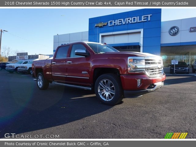 2018 Chevrolet Silverado 1500 High Country Crew Cab 4x4 in Cajun Red Tintcoat