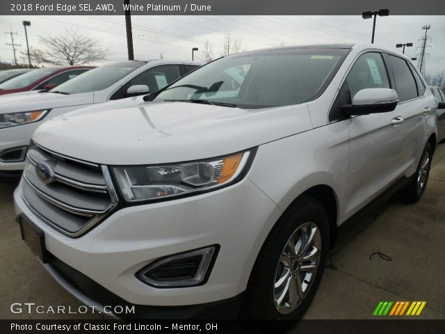 2018 Ford Edge SEL AWD in White Platinum