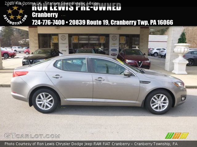 2013 Kia Optima LX in Titanium Silver Metallic