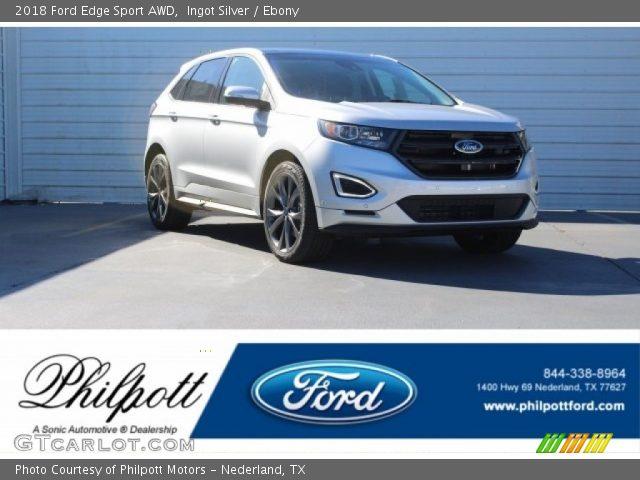 2018 Ford Edge Sport AWD in Ingot Silver