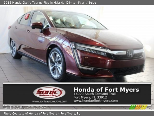 2018 Honda Clarity Touring Plug In Hybrid in Crimson Pearl
