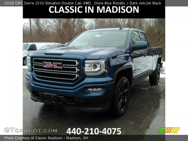 2018 GMC Sierra 1500 Elevation Double Cab 4WD in Stone Blue Metallic