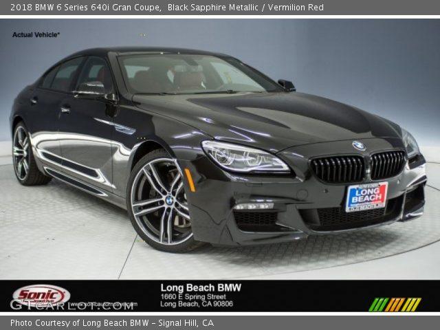 2018 BMW 6 Series 640i Gran Coupe In Black Sapphire Metallic