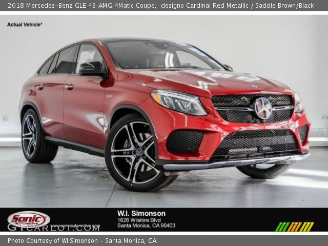 2018 Mercedes-Benz GLE 43 AMG 4Matic Coupe in designo Cardinal Red Metallic