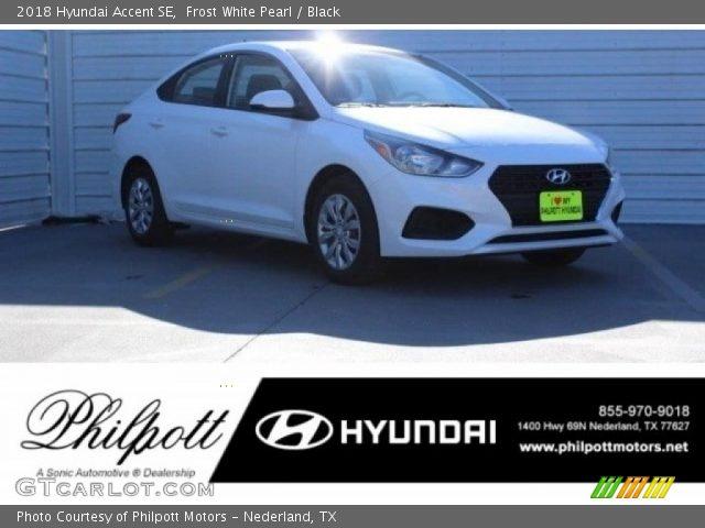 2018 Hyundai Accent SE in Frost White Pearl