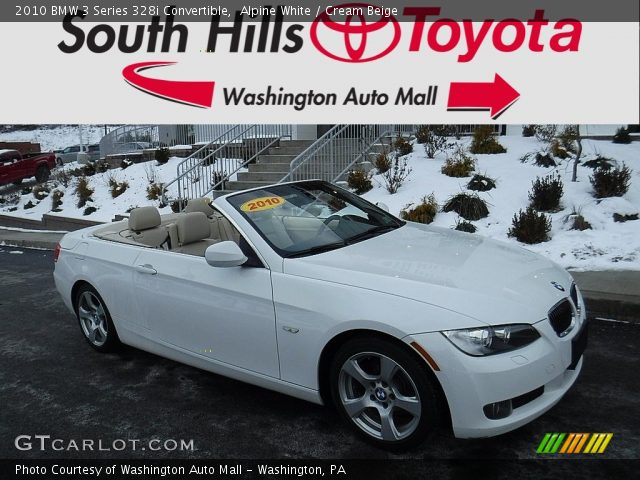 2010 BMW 3 Series 328i Convertible in Alpine White