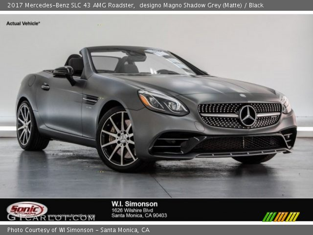 2017 Mercedes-Benz SLC 43 AMG Roadster in designo Magno Shadow Grey (Matte)