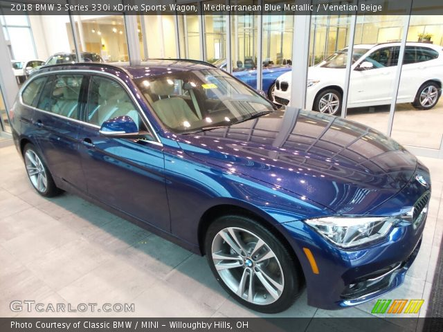2018 BMW 3 Series 330i xDrive Sports Wagon in Mediterranean Blue Metallic