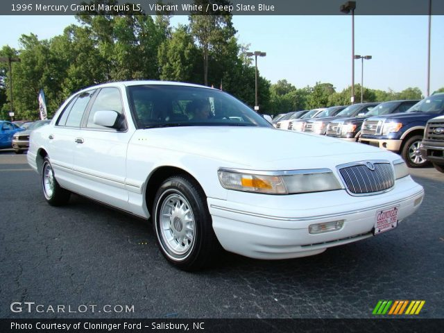 vibrant white 1996 mercury grand marquis ls deep slate. Black Bedroom Furniture Sets. Home Design Ideas