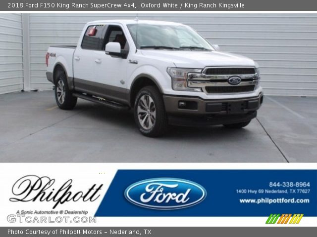 2018 Ford F150 King Ranch SuperCrew 4x4 in Oxford White