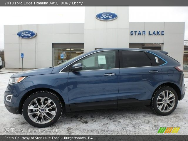 2018 Ford Edge Titanium AWD in Blue