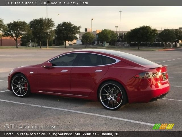 2016 Tesla Model S P90D in Red Multi-Coat