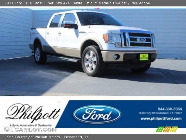 2011 Ford F150 Lariat SuperCrew 4x4 in White Platinum Metallic Tri-Coat