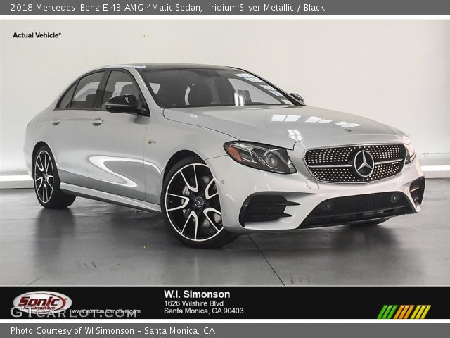 2018 Mercedes-Benz E 43 AMG 4Matic Sedan in Iridium Silver Metallic