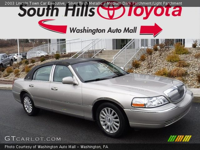 2003 Lincoln Town Car Executive in Silver Birch Metallic