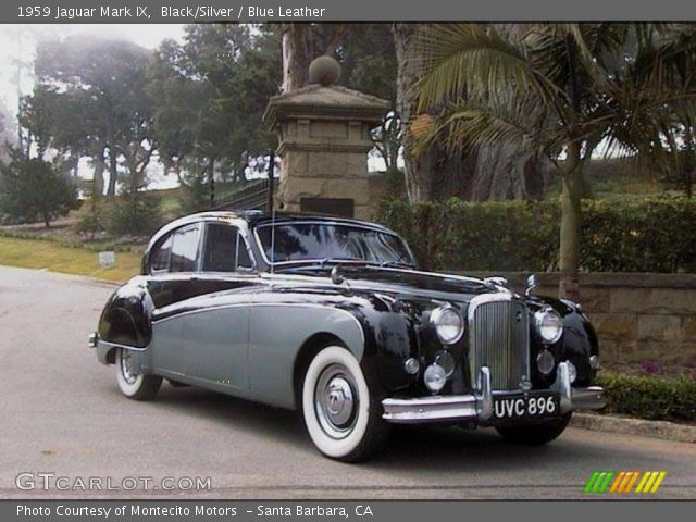 Black/Silver - 1959 Jaguar Mark IX - Blue Leather Interior | GTCarLot ...