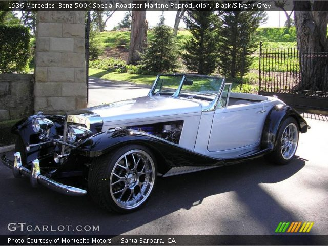 1936 Mercedes-Benz 500K Special Roadster Marlene Reproduction in Black/Silver