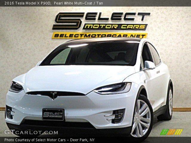 2016 Tesla Model X P90D in Pearl White Multi-Coat