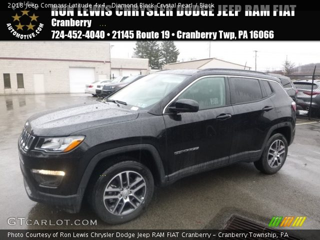 2018 Jeep Compass Latitude 4x4 in Diamond Black Crystal Pearl