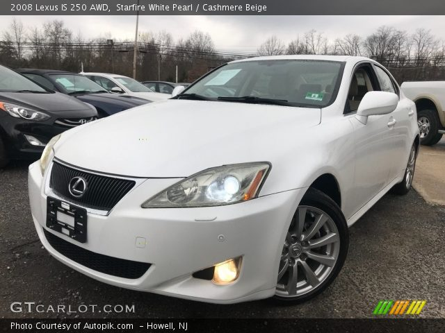2008 Lexus IS 250 AWD in Starfire White Pearl