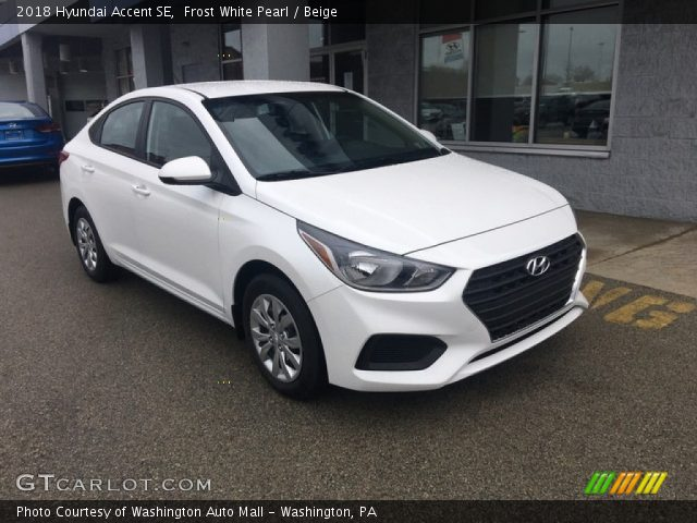 2018 Hyundai Accent SE in Frost White Pearl
