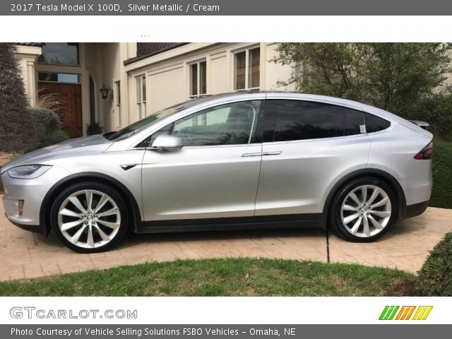 2017 Tesla Model X 100D in Silver Metallic