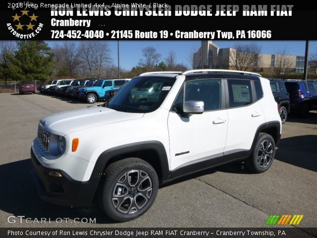 2018 Jeep Renegade Limited 4x4 in Alpine White