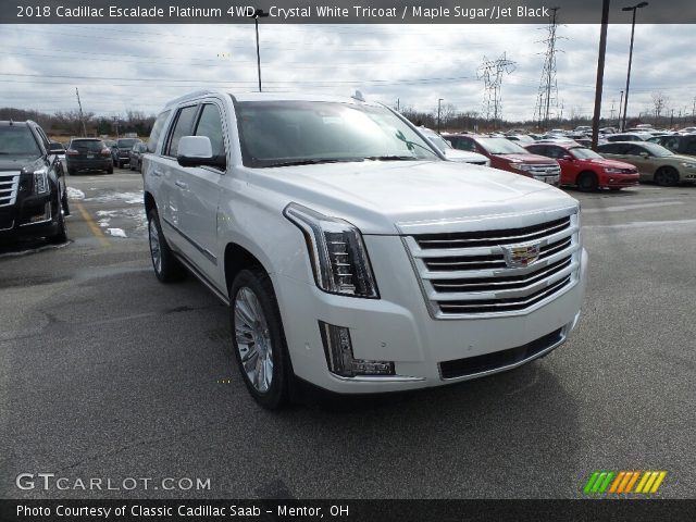 2018 Cadillac Escalade Platinum 4WD in Crystal White Tricoat