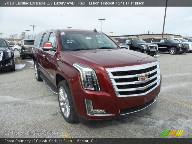 2018 Cadillac Escalade ESV Luxury 4WD in Red Passion Tintcoat