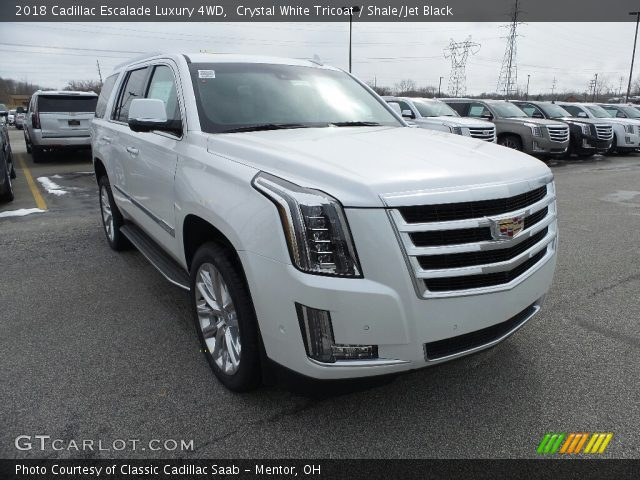 2018 Cadillac Escalade Luxury 4WD in Crystal White Tricoat