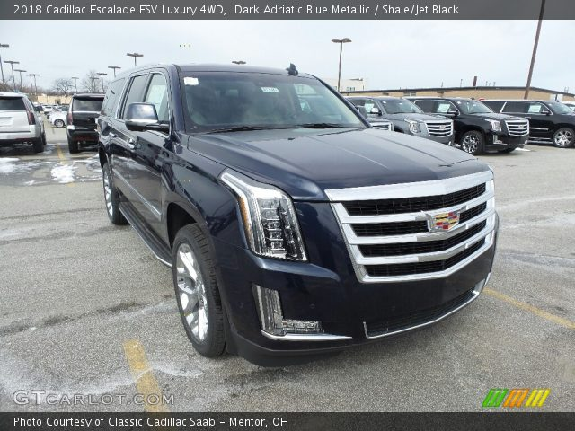 2018 Cadillac Escalade ESV Luxury 4WD in Dark Adriatic Blue Metallic