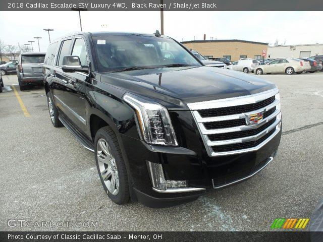 2018 Cadillac Escalade ESV Luxury 4WD in Black Raven