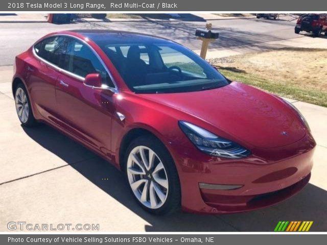2018 Tesla Model 3 Long Range in Red Multi-Coat