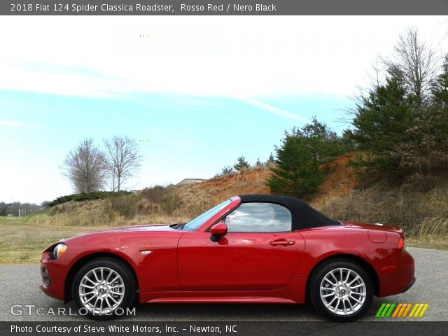 2018 Fiat 124 Spider Classica Roadster in Rosso Red