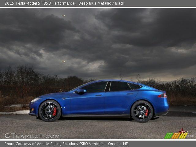 2015 Tesla Model S P85D Performance in Deep Blue Metallic