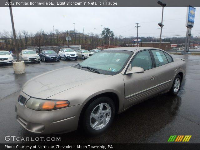2003 Pontiac Bonneville SE in Light Bronzemist Metallic